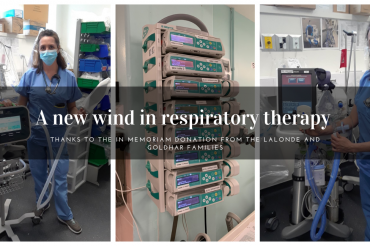 A new wind in respiratory therapy thanks to an in memoriam donation